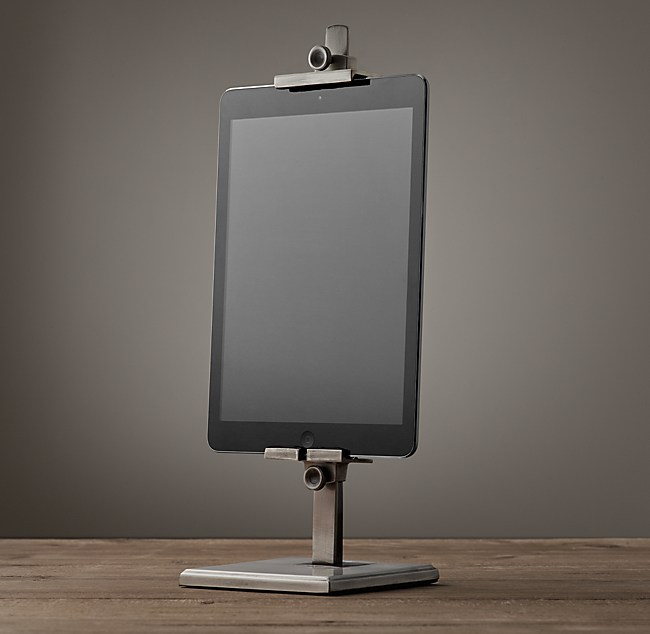 Ipad Easel metal easel stand for ipad® - aged steel