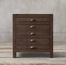 "24"" Printmaker's Closed Nightstand"