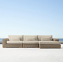 Majorca Luxe Right-Arm Chaise Sectional Cushions