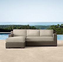 Biscayne Luxe Left-Arm Chaise Sectional Cushions