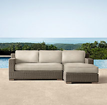 Biscayne Luxe Right-Arm Chaise Sectional Cushions