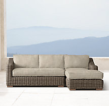 Provence Classic Right-Arm Chaise Sectional Cushions