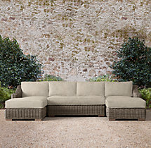 Provence Classic U-Chaise Sectional Cushions