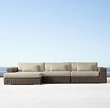 Majorca Classic Left-Arm Chaise Sectional Cushions
