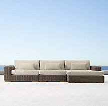 Majorca Classic Right-Arm Chaise Sectional Cushions