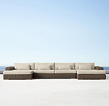 Majorca Classic U-Chaise Sectional Cushions
