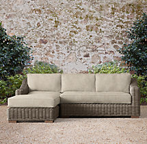 Provence Luxe Left-Arm Chaise Sectional Cushions