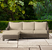 La Jolla Left-Arm Chaise Sectional Cushions