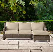 La Jolla Right-Arm Chaise Sectional Cushions