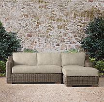 Provence Luxe Right-Arm Chaise Sectional Cushions