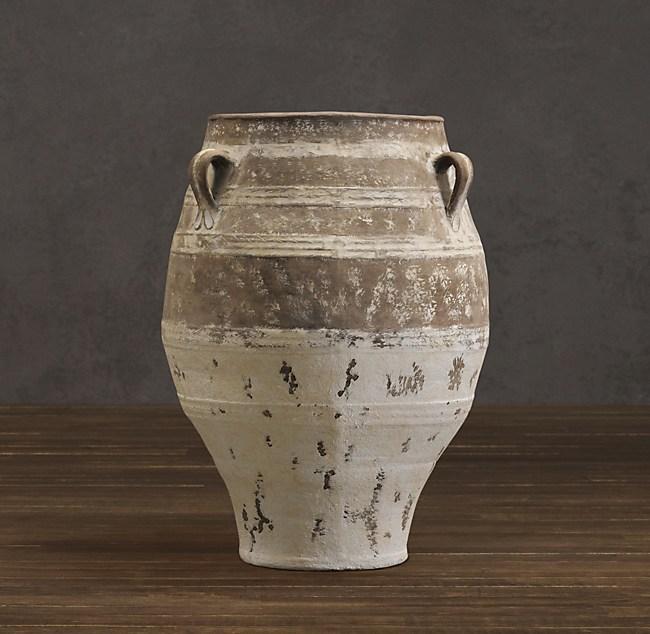 Handled Mediterranean Jar Natural