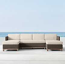 Malibu Right-Arm Chaise Sectional Cushions
