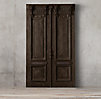 19th C French Carved Door Headboard