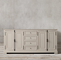 French Casement Double Vanity Base