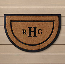 Personalized Coir with Rubber Frame Doormat