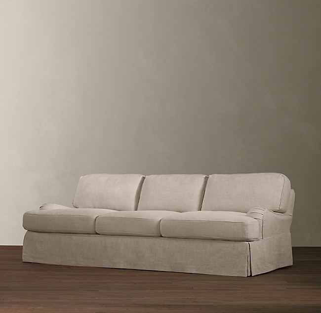 English Roll Arm Slipcovered Sofa Color Preview Unavailable Alternate View 1 2 3