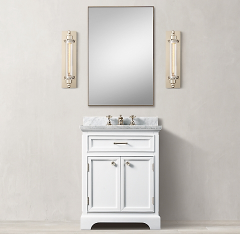 Bathroom Lighting Kent kent bath collection - white/polished nickel | rh
