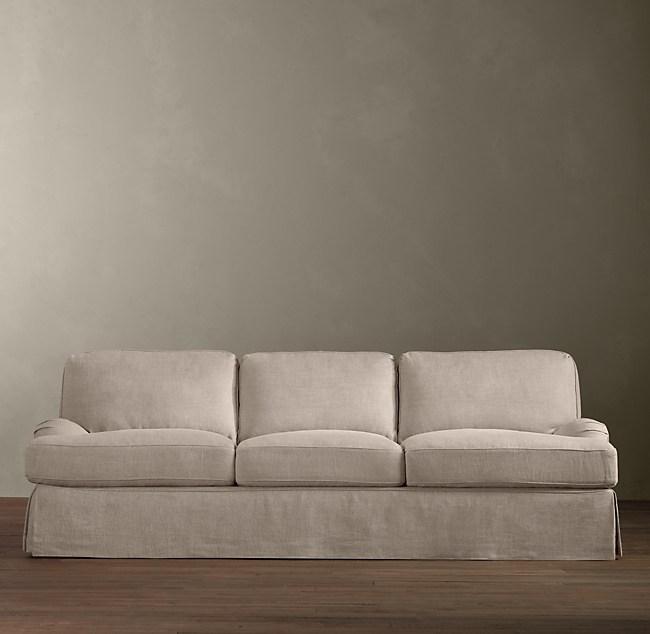 English Roll Arm Slipcovered Sleeper Sofa