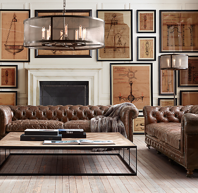 How To Find The Perfect Leather Sofa Emily Henderson. Restoration Hardware  ...