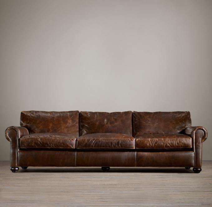 Lancaster Leather Sleeper Sofa