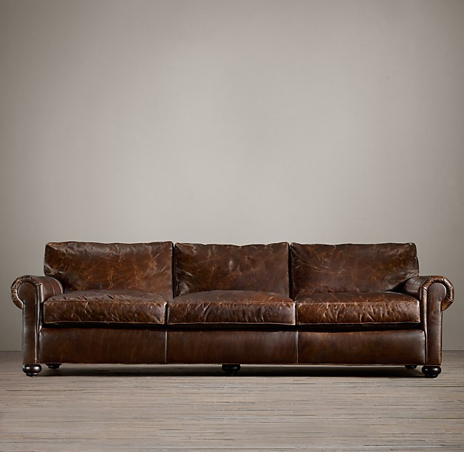 restoration hardware leather sofa Original Lancaster Leather Sofa restoration hardware leather sofa