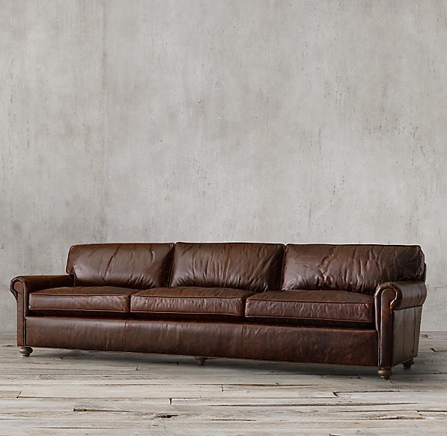 Original Lancaster Leather Sofa Color Preview Unavailable Alternate View 1