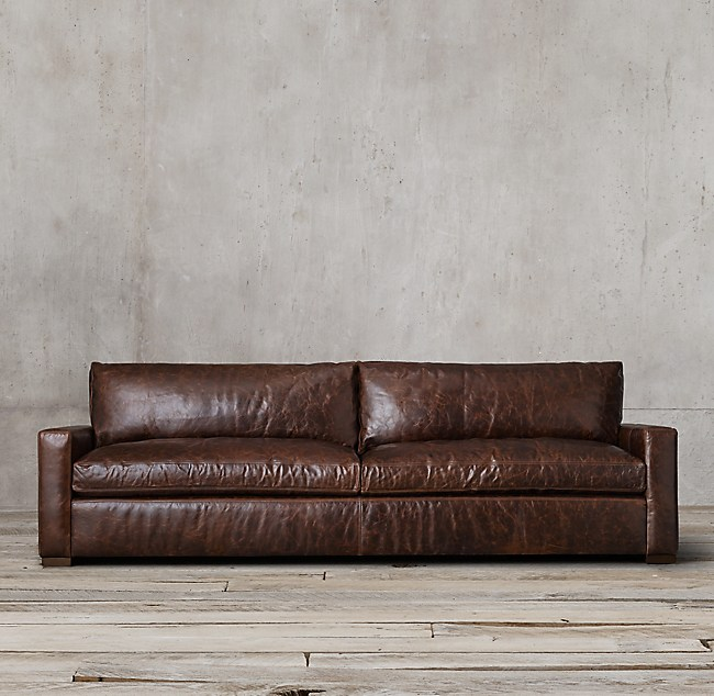 Restoration Hardware Leather : Restoration hardware maxwell leather sofa