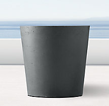Weathered Cast Stone Short Round Planter