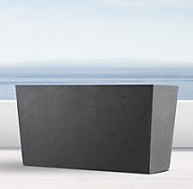 Weathered Cast Stone Tapered Trough Planter