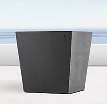 Weathered Cast Stone Tapered Cube Planter