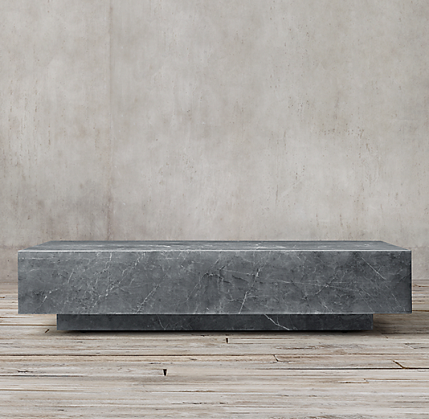 Klein Marble Coffee Table: Marble Plinth Coffee Table