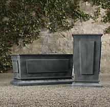 Estate Zinc Paneled Tall & Trough Planters