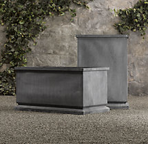 Estate Zinc Footed Tall & Trough Planters