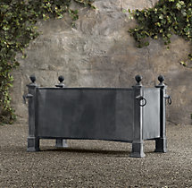 Versailles Weathered Zinc Trough Planter