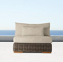 Majorca Luxe Modular Armless Chair Cushions