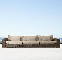 "141"" Majorca Luxe Sofa Cushions"
