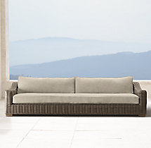 "112"" Provence Luxe Sofa Cushions"