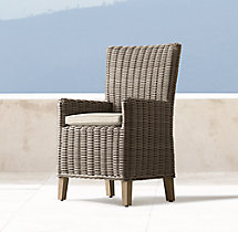 Provence High Back Armchair Cushion