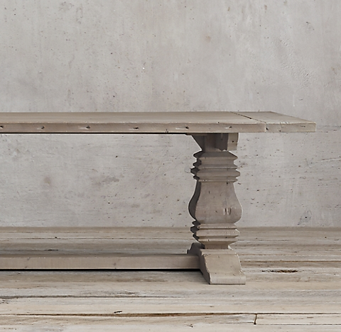 more sizes & finishes Salvaged Wood Trestle Rectangular Extension Dining Table Idea - Lovely restoration hardware salvaged wood table For Your Plan