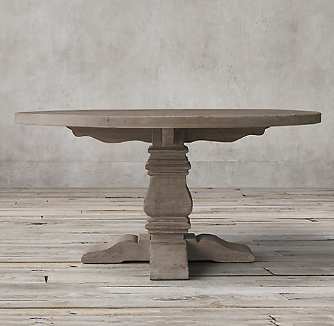 All Round Oval Tables RH - 50 inch round pedestal table
