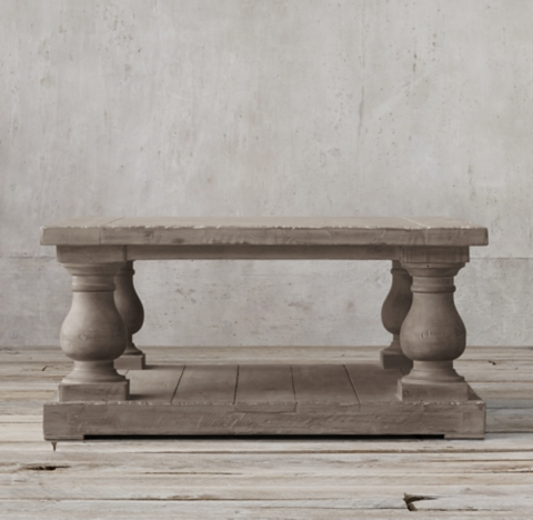 Salvaged Wood Square Coffee Table
