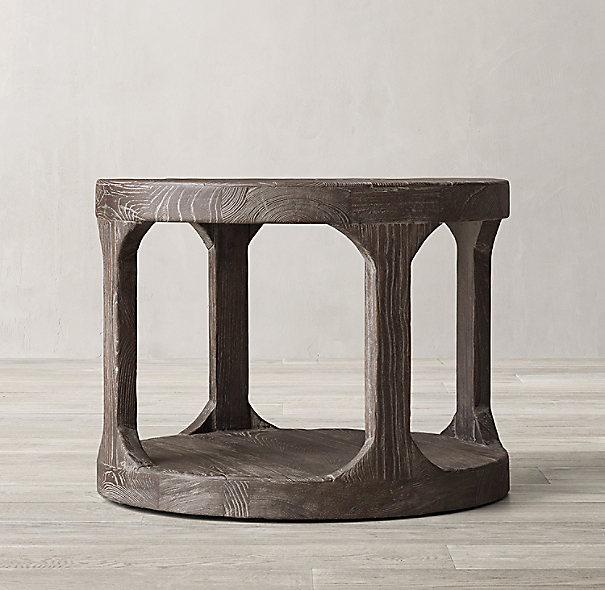 Martens Round Coffee Table Restoration Hardware 36 Inch: Martens Round Side Table