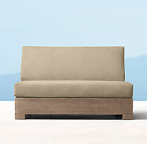 Belvedere Luxe Two-Seat Armless Sofa Cushions