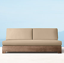 Belvedere Luxe Three-Seat Armless Sofa Cushions