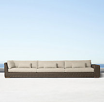Majorca Luxe Four-Seat Left/Right-Arm Return Sofa Cushions