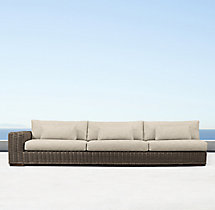 Majorca Luxe Three-Seat Left/Right-Arm Sofa Cushions