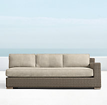 Biscayne Luxe Three-Seat Left/Right-Arm Sofa Cushions