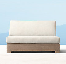 Belvedere Classic Two-Seat Armless Sofa Cushions