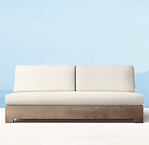 Belvedere Classic Three-Seat Armless Sofa Cushions
