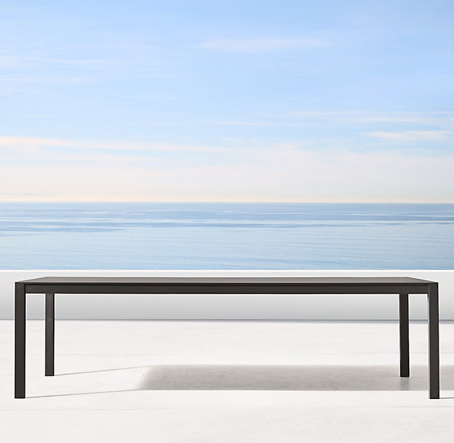 Aluminum Rectangular Dining Table - Aluminum dining table